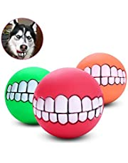 Pets Empire Funny Pet Dogs Teeth Pattern Balls Chew Toy (Colour May Vary)