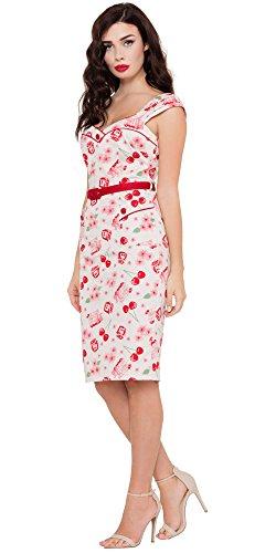 Voodoo Vixen Kleid ZENA DRESS 8202 Weiß S