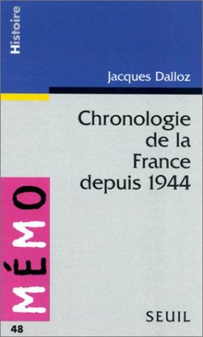 Chronologie de la France depuis 1944