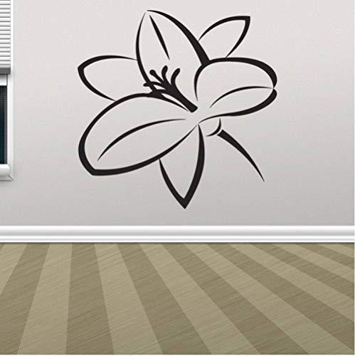 Wandaufkleber Abnehmbare Selbstklebende Für Kinderzimmer Wandbild Poster Für Wohnzimmer Geschenk Wandbild Vinyl Decor Wallpaper Geburtstag Blume Pflanze 57x57cm