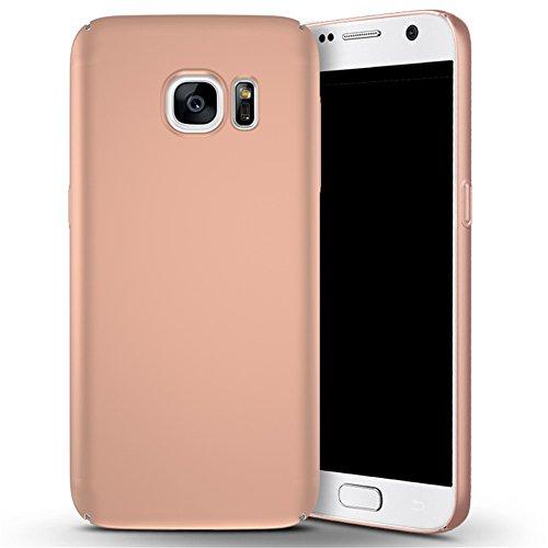 Samsung S7 Hülle,EinsAcc PC Hart Schutzhülle Hülle für Samsung S7 Etui Schale Case Cover (schwarz) rosegold