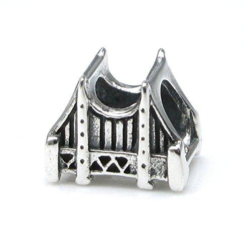 925Sterling Silber San Francisco Golden Gate Bridge Travel Perle für europäische Charm-Armbänder -