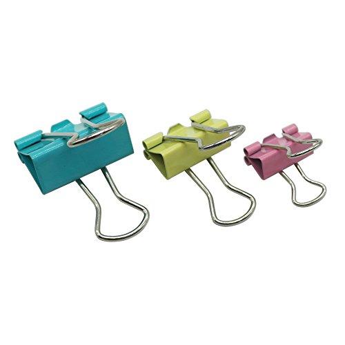 Foldback-Klammern 82 Stück, Mischgrößen 15mm 19mm 25mm Mischfarbe Vielzweckklammern Bürobedarf Haushaltsartikel - Autumn Love