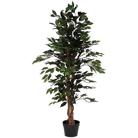 Árbol ficus artificial (150cm de alto con maceta verde