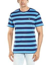 Gant Mens T-Shirt (8907259980508_GMTJB0046_X-Large_Pacific Blue)