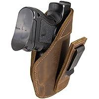 Barsony Holsters & Belts Tamaño 15 Beretta Glock S&W Tauro Derecha Marrón Funda de Cuero de tuckable