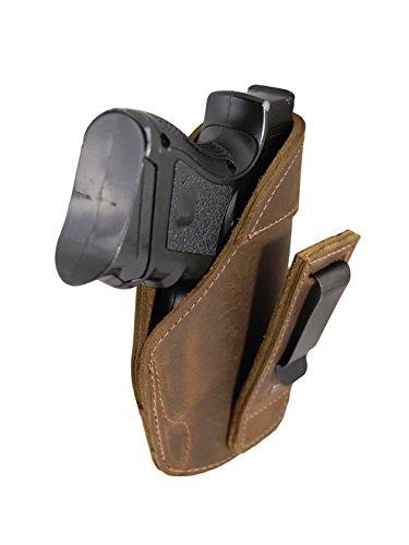 Barsony Holsters & Belts Größe Beretta Glock HK S&W Springfield 16 rechte Seite Braun Leder verstaubarer Holster (Holster Xd 45)
