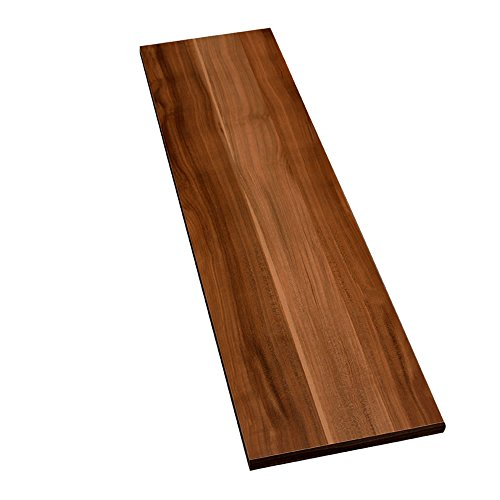 Möbelbauplatte Regalbrett Zwetschge 1150 x 400 x 16 mm, runde Kante, 4 Seiten umleimt