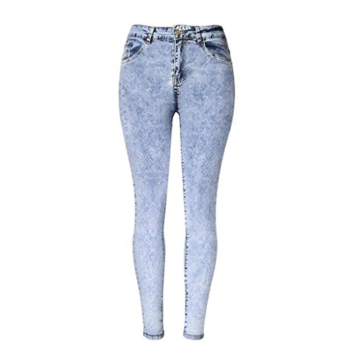 Wgwioo Womens Jeans Disco High Waisted Skinny Denim Stretchy Zipper Tasche Leggings Hosen Slim Bleistift Hosen . Picture Color . 36