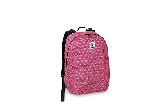 Zaino scuola invicta gift rosa fenicottero reversibile