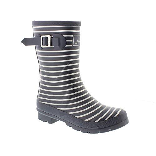 Joules MOLLYWELLY grey silver stripe, Gummistiefel Schwarz