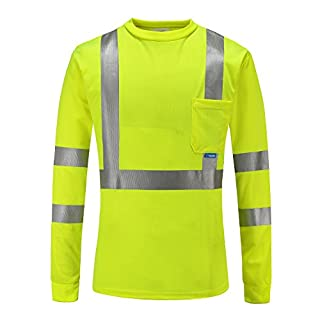 AYKRM Quick Drying Breathable Short Sleeve High Visibility Work Wear hi vis T-Shirt Yellow
