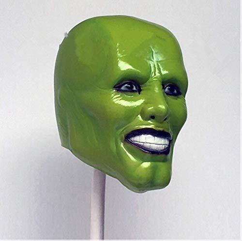 VAWAA Erwachsene Größe Die Maske Jim Carrey Männliche Maske Herren Fancy Kleid Superhelden Comic Erwachsene Kostüm Zubehör Auf - Kostüm Auf Lager