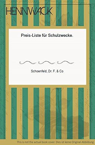 Preis-Liste für Schulzwecke.
