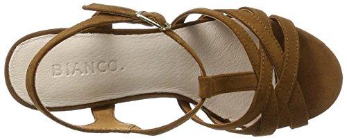 Bianco Damen Strappy Sandal 20-49214 Braun (Light Brown)