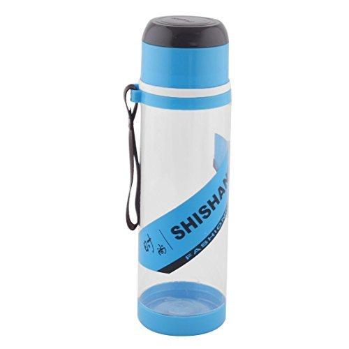 Dealmux Camping Plastique détachable Passoire à thé Sport Bouteille d'eau Tasse mug 760 ml Bleu