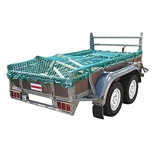 Proplus Anhängernetz Ladungssicherung Anhänger Netz mit Gummiseil 2,50x3,50M