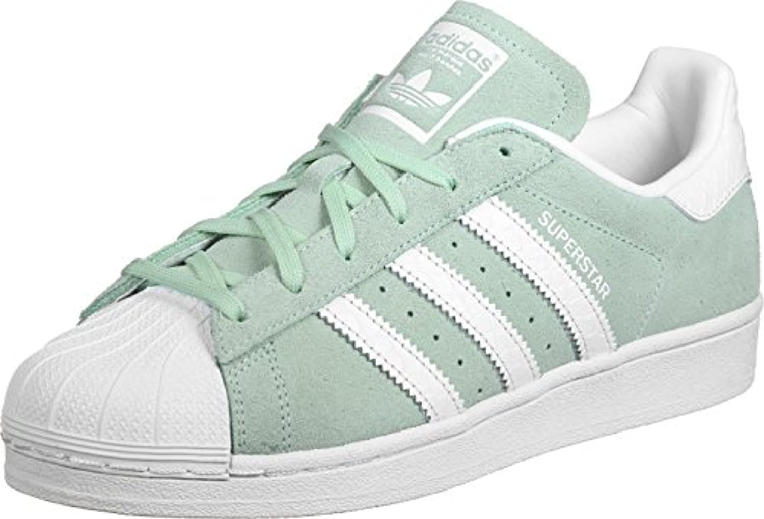 adidas womens superstar mint 8.5