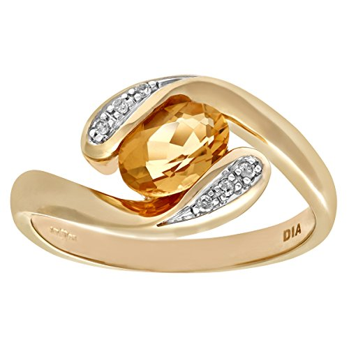 naava-womens-9-ct-yellow-gold-diamond-and-citrine-crossover-ring