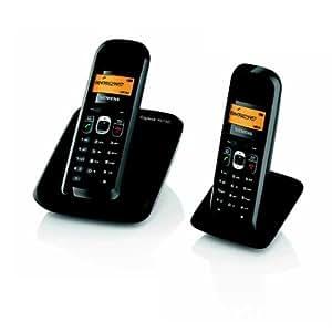 Gigaset AS180 Duo Téléphone sans fil DECT / GAP 2 combinés Noir