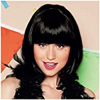 Wghz Black wigs with straight, short, straight, synthetic, machine-made cosplay wigs for women