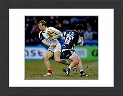 Framed Print of Aviva Premiership - Sale Sharks v Saracens - Edgeley Park from Saracens Rugby