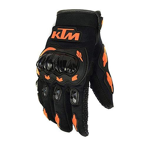 Qiyun Protezione per Attività Esterna, Guanti Moto Invernali, Guanti Scooter MTB Full Finger Unisex, Guanti Motocross per Uomo/Donna - KTM Arancio