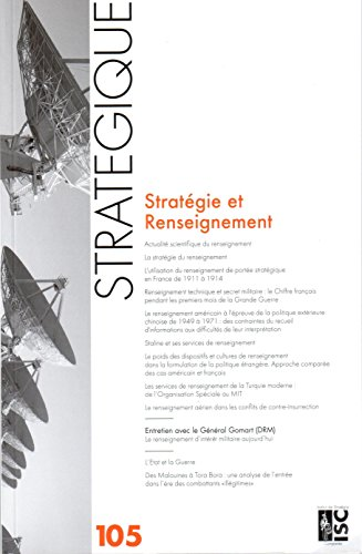 Stratégique 105 - Strategie et Renseignement