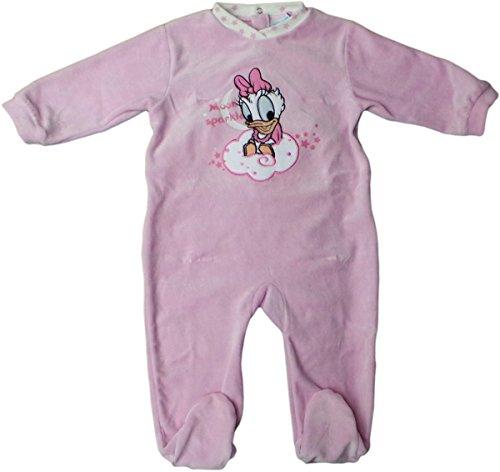 Disney Baby Daisy Duck Pyjama / Schlafanzug / Strampler - Mond Glitzern - Rosa/Mehrfarbig