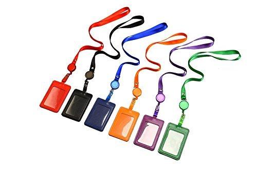 Soportes de Tarjeta de piel sintética y cordón de banda correa de cuello largo proporciona una buena protección para su clave, tarjeta de identificación y otras cosas poco. Características: Color: Negro, Azul, Púrpura, Verde, Naranja y Rojo Material:...