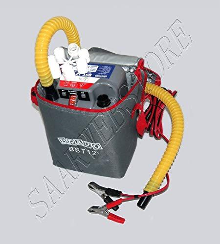 Saarwebstore Elektrische Bravo Superturbo BST Luftpumpe 12V Scoprega, mit extra hoher Kapazität (800mbar/450l/min) Schlauchbootpumpe