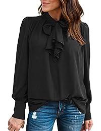 ab022f261 Amazon.es  lazo negro - Blusas y camisas   Camisetas