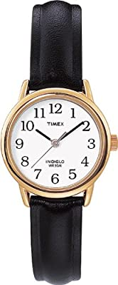 Timex Women's Quartz Watch with Dial Analogue Display and Leather Strap