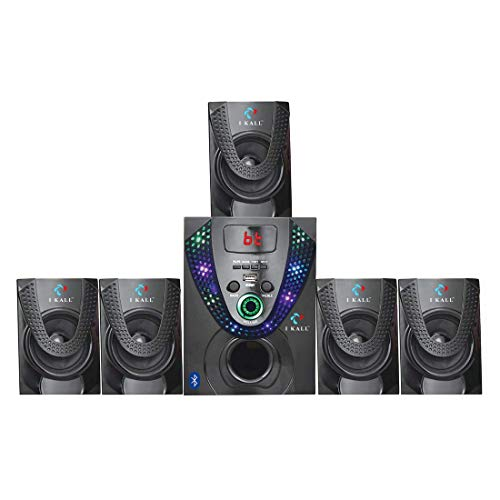 IKALL I Kall IK-666 5.1 Channel Multimedia Speaker System with FM/AUX/USB Support and Remote Control (Black)