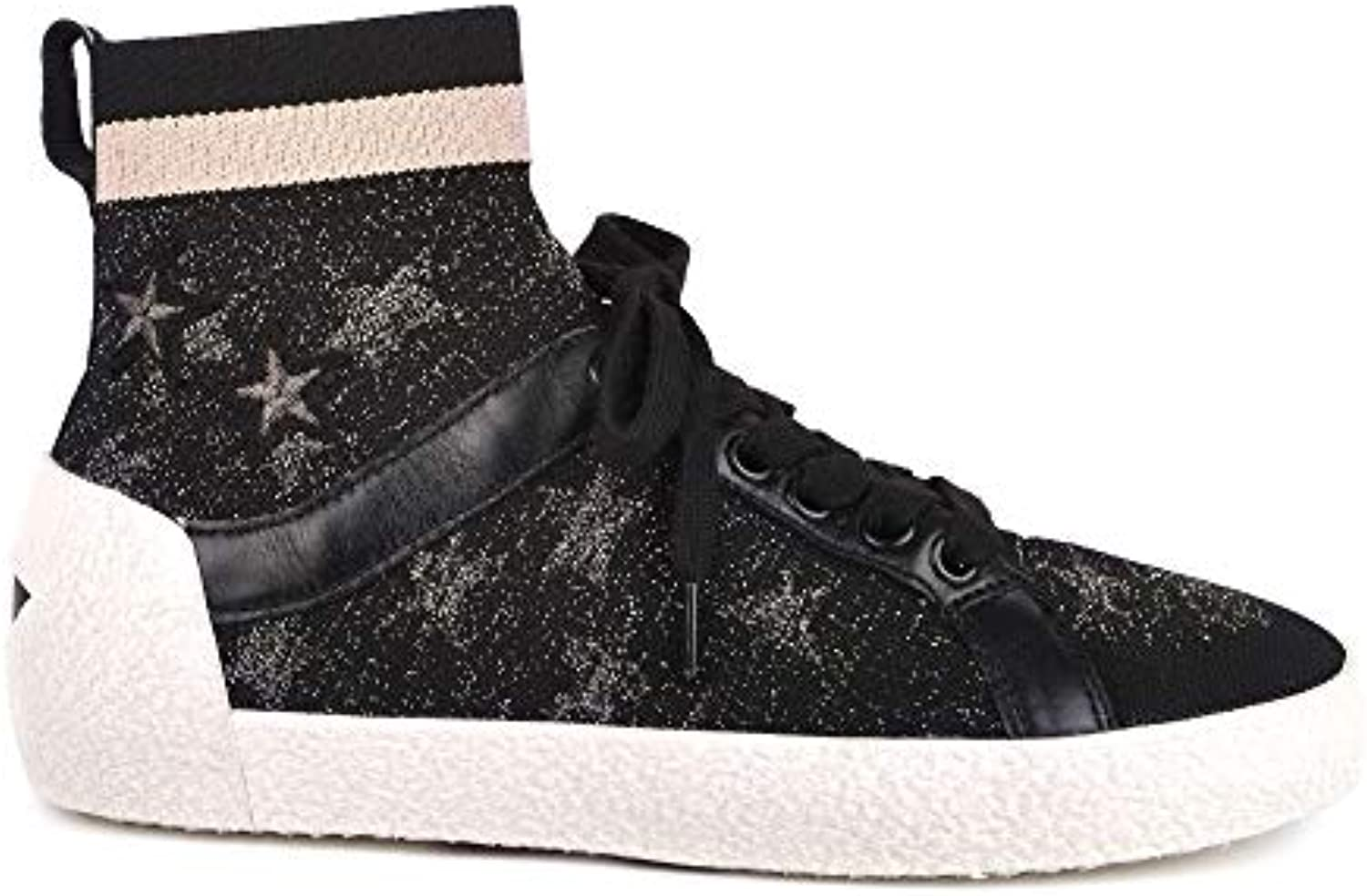 Ash Footwear Ninja Star nero Knit with Star Print Trainer | Materiali Di Prima Scelta