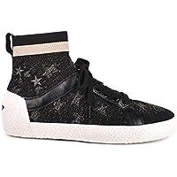 8c24b2488f4 Ash Ninja Star Trainers Black Metallic Knit   Leather 38 Black.