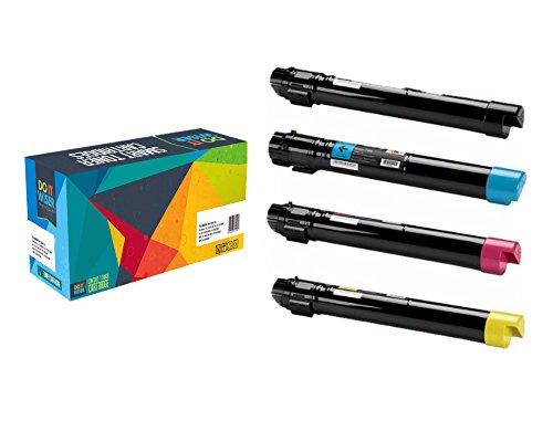 Doitwiser ® Xerox Phaser 7500 7500N 7500DN 7500YDN 7500DT 7500YD Confezione da 4 Cartucce di Toner ad Alto Rendimento Compatibili - 106R01439 106R01436 106R01437 106R01438 - Nero 19.800 pagine - Colori 17.800 pagine (4 Pack) Nero Ciano Magenta Giallo