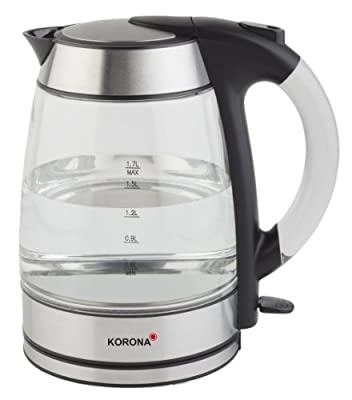 Korona 2050222 Bouilloire Électronique Transparent avec Inox-Accent