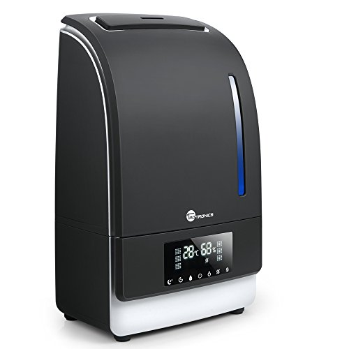 Humidificador UltrasónicoTaoTronics Vapor Caliente/FRÍO (6L, Modo de Sueño, Temporizador de 1 a 6h, Autopagamiento, Control táctil, Panel LED) 130W, Warm/Cool Mist