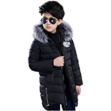 Vlunt Manteaux à Capuche en Fourrure Garçons Mode Blousons Hiver Chaud  Vestes Enfant Doudoune Garcon Épais 72ffcd8ef34