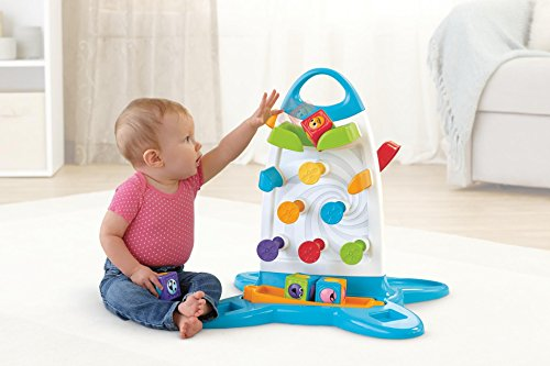 Fisher Price Electronic Baby Toy Roller Blocks Play Wall