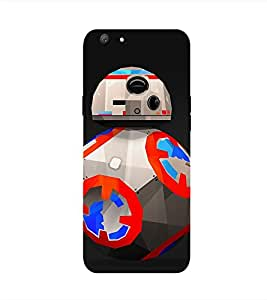 Robot Printed Back Cover for Oppo F1S