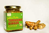FORE HEALTH: Premium Quality, Nutritious & Delicious Turmeric and Ginger Pickle/Haldi, adrakh ka achar in Olive Oil (225 g)