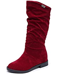 Covermason Herbst Winter Damen Stiefel Flache Absatz Schuhe Schneestiefel