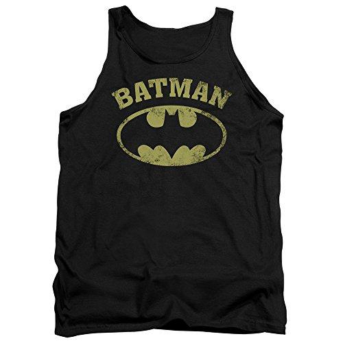 Batman-Canottiera da uomo con il simbolo Nero  nero