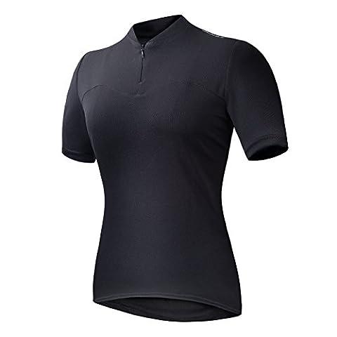Przewalski Women's Basic Cycling Jersey (Black, Medium)