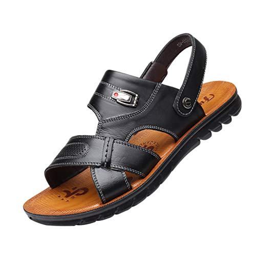 MisFox Uomo Sandali in Vera Pelle Estivi Sportive Pantofola Scarpe da Spiaggia per Gli Uomini Scarpe Sandali 38-44
