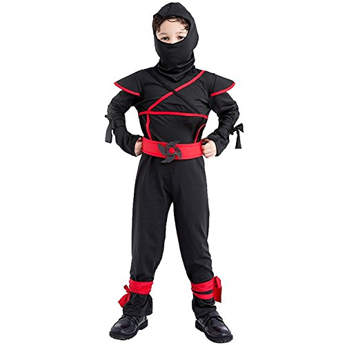en Stealth Ninja Mit Kapuze Halloween Kostüm Ninjago Kostüm Outfit (Halloween Ninja)