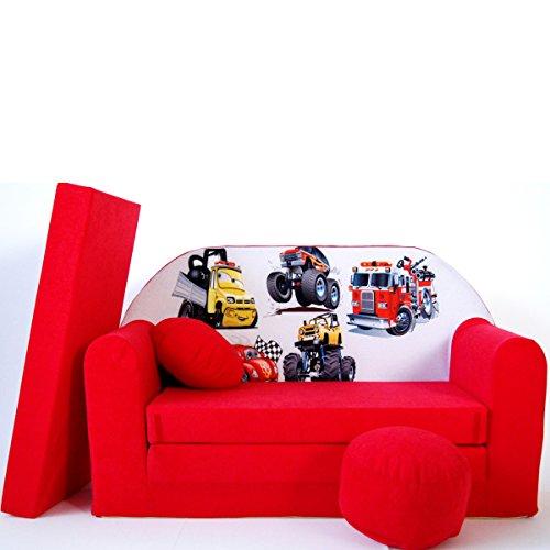 Barabike D14-a pour Enfant Canapé bébé Canapé Mini Canapé Canapé lit Pouf Lot de 3 en 1 d'oreillers en Mousse