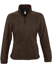Sol 's–Forro polar Jacket–North, todo el año, color Marrón - marrón chocolate, tamaño M
